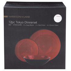 Harrison & Lane Tokyo Dinnerset 12 Piece Red