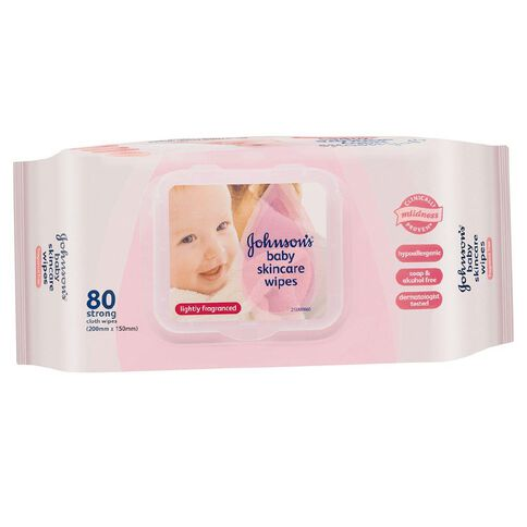 Johnson's Baby Wipes Lightly Scented 80 Pack