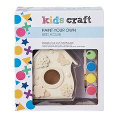 Kids' Art & Craft Kids Craft Paint Your Own Birdhouse