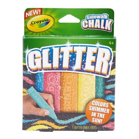 Crayola Sidewalk Chalk Special Effects Glitter 5 Pack