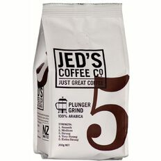 Jed's Coffee Co Roast & Ground Plunger Filter Strength 5 200g