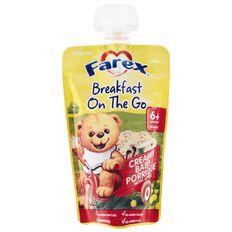 Farex Breakfast On The Go Creamy Baby Porridge Pouch 120g