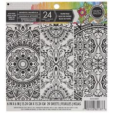 Craft Smith Colouring Mind Mandala Pad 6in x 6in 24 Sheet