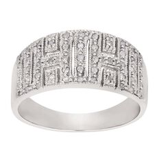 1/4 Carat of Diamonds Sterling Silver Pave Ring