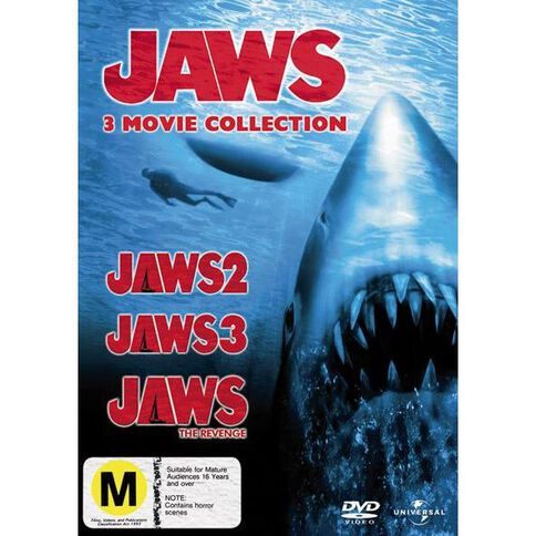 Jaws 2 3 And 4 DVD 3Disc