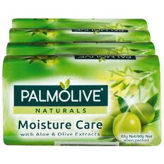Palmolive Naturals Aloe & Olive Moisture Care 90g Soap 4 Pack Green