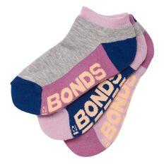 Bonds Girls' Logo Low Cut Socks 3 Pack