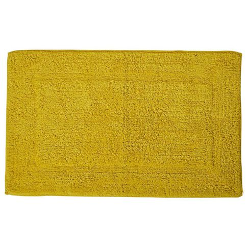 Necessities Brand Bath Mat Yellow 45cm x 75cm
