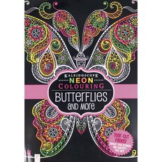 Neon Colouring Butterflies and More