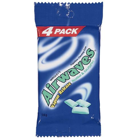 Wrigley's Airwaves Menthol and Eucalyptus 4 Pack