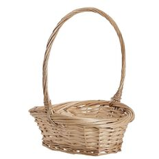 Necessities Brand Gretchen Basket with Handle Natural