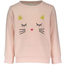 Hippo + Friends Toddler Girl Pull Over Print Sweatshirt