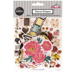 Rosie's Studio Flourish Cardstock Diecuts 136 Piece