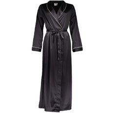 H&H Women's Long Satin Robe
