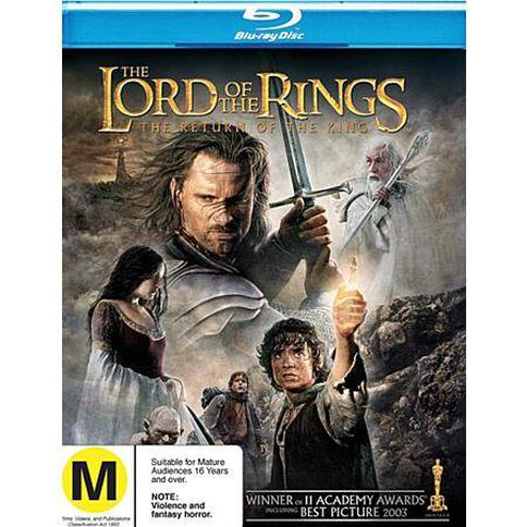 Lord of the Rings The Return of The King Blu-ray 1Disc