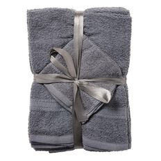 Living & Co Towel Thomas Charcoal 6 Pack