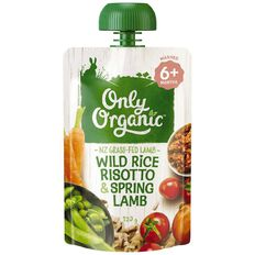 Only Organic Wild Rice Risotto & Spring Lamb Pouch 120g