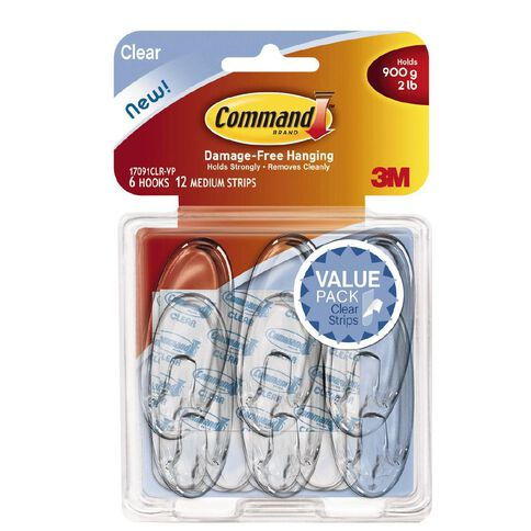 Command Clear Medium Hooks Value Pack