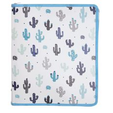Paper Scissors Rock Cactus Zip Folder A4