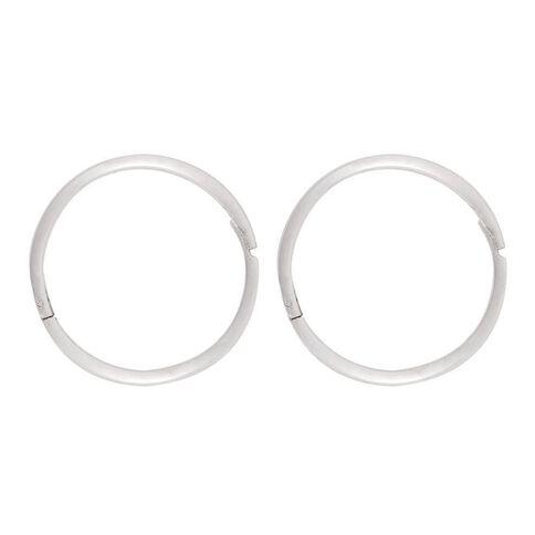 Sterling Silver Plain Sleepers Earrings 13mm