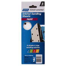 Norton 1/3rd Sheet Sander Sandpaper P80 93mm x 230mm 8 Hole 5 Pack