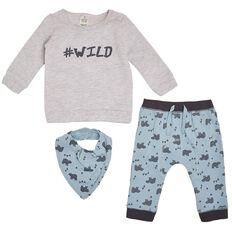 Hippo + Friends Baby Boy Fleece 3 Piece Set