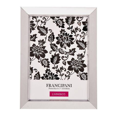 Living & Co Frame Frangipani Silver 5in x 7in