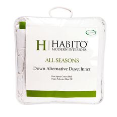 Habito Duvet Inner All Seasons Down Alternative White Queen