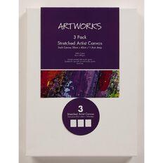 Artwise Stretched Art Canvas 30cm x 40cm 5oz 3 Pack