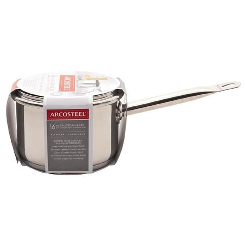 Arcosteel Kitchen Essentials Stainless Steel Saucepan 16cm x 12cm