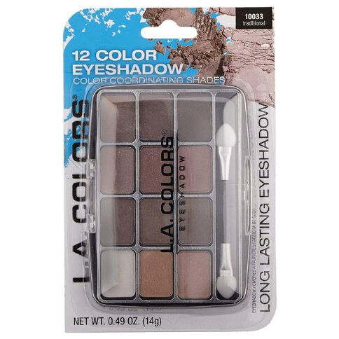 La Colors 12 Color Eyeshadow Palette Traditional 10033