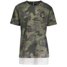 Urban Equip Longline All Over Print Camouflage Tee