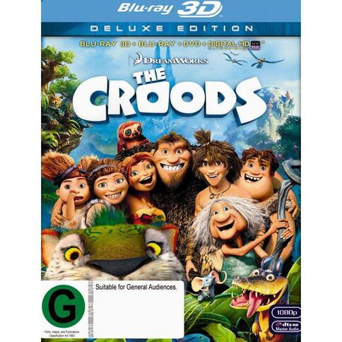 The Croods Blu-ray + 3D Blu-ray + DVD 3Disc