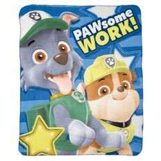 Paw Patrol Polar Fleece Throw Pawsome Work