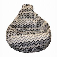 Bean Bag Zigzag Black/Beige 200L