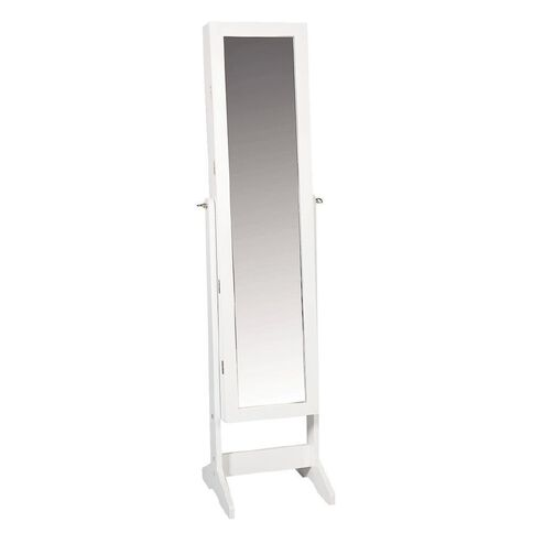 Living & Co Jewellery Mirror Cabinet White
