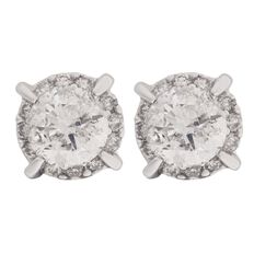 1 Carat of Diamonds 9ct Gold Diamond Cluster Earrings