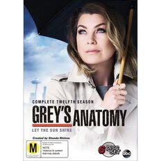 Greys Anatomy Season 12 DVD 6Disc
