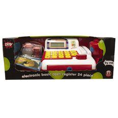 Play Studio Basic Electronic Toy Cash Register Set 24 Piece