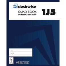Deskwise Exercise Book 1J5 5mm Quad 36 Leaf