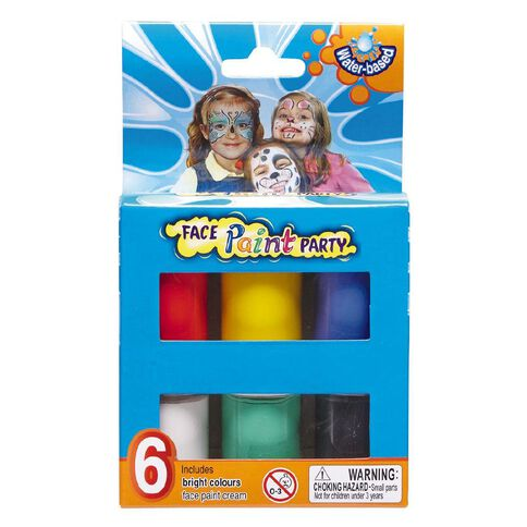 Facepaint Pots 6 Colours