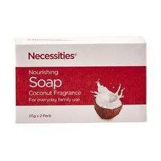 Necessities Brand Soap Bars Nourishing Coconut 65g 2 Pack