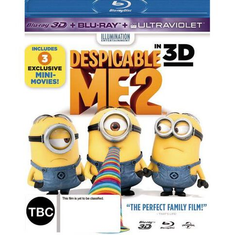 Despicable Me 2 3D Blu-ray + Blu-ray 2Disc