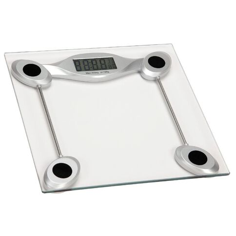 Living & Co Digital Bathroom Scale Glass Silver