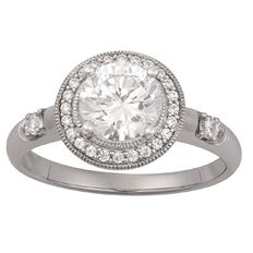 Brilliance Sterling Silver Halo CZ Ring