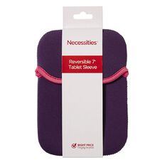Necessities Brand 7 inch Reversible Tablet Sleeve Purple