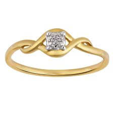 9ct Gold Diamond Infinity Ring