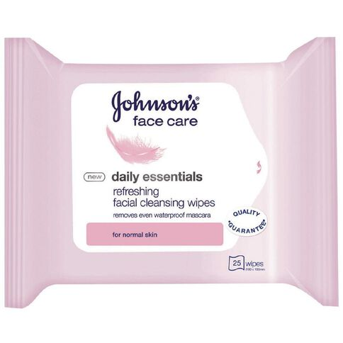Johnson's 3 in 1 Cleansing Wipes 25 Pack