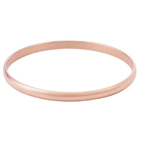 Stainless Steel D Shaped Rose Colour Bangle 5mm