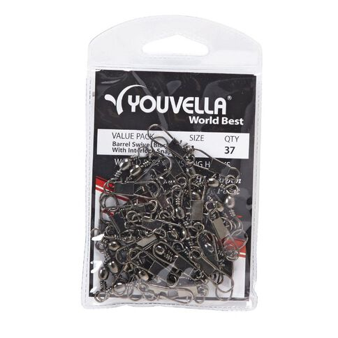 Youvella Fishing Swivel Snap N4 10Kg 37 Piece Value Pack